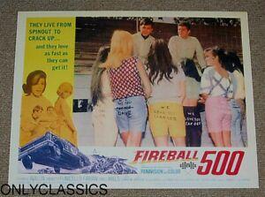 1965 FIREBALL 500 AUTO RACING MOVIE POSTER PINUP SEXY GIRL REAR NASCAR STOCK CAR