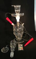 All Glass Skull hookah  HIgh quality LED Lighting  with case FREE SHIPPING