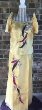 Philippine Dress Maria Clara/Filipiniana Hand Painted Dress size  Large
