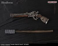 Bloodborne Hunter's Arsenal pistol & torch1/6 Weapon GECCO figure from JAPAN