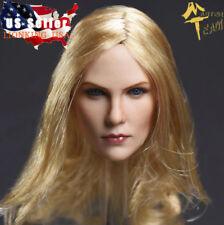"1/6 American Female Head Sculpt Blonde Hair For 12"" TBLeague PHICEN Figure ❶USA❶"
