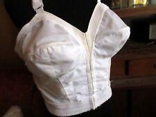 40D 40 D  True Vtg 70s Sears Front Hook Fetish Granny Bra White