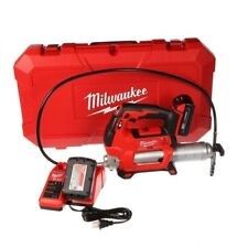 Cordless Grease Gun Kit 2 Speed 18V Lithium Ion Batteries Charger Case Milwaukee