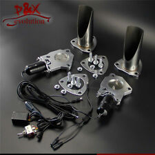 """Dual 2"""" 51mm Electric Stainless Exhaust Cutout Cut Pipe with Switch control Kit"""