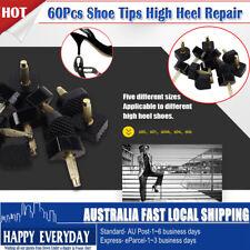 60Pcs Shoe Tips Mixed High Heel Stiletto Repair Cap Plates Replacement Tool Set