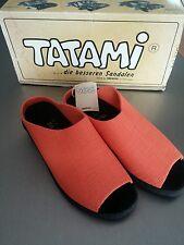 Tatami Birkenstock Gr 36 Pantoletten Orange Pantoffel Hausschuhe Naturkork Leder