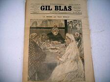 GIL BLAS revue n° 5 - 1892 dessins steinlen guillaume  nouvelles inédites