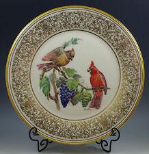 "1976 Lenox -Boehm Cardinals-Cardinal Bone China Plate, 10.3/4"""