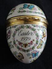 Halcyon Days for Bilston & Battersea Enamels 1979 Easter Egg Trinket Box
