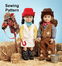 "Kwik Sew K3937 Pattern 18"" Doll Giddyup Clothes & Accessories OSZ BN"