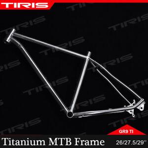 TIRIS Titanium Frame Mountain Bike Bicycle Iner/External Cable GR9 Ti Custom