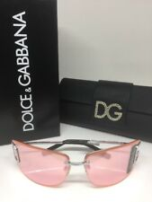 New Authentic Dolce & Gabbana DG 468 Sunglasses C. Silver Mirror With DG Logo