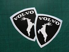 volvo shield moose decal elk sticker left right exterior animal sticker 2X