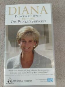 Diana Princess Of Wales VHS Movie from private collection  FREE POST