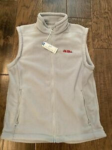 Southern Tide Ole Miss Rebels Gavel Grey Vest Size Medium