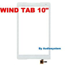 VETRO+ TOUCH SCREEN ORIGINALE WIND TAB 10 LCD per DISPLAY TABLET BIANCO NUOVO