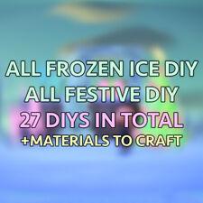 ALL Frozen Ice Illuminated Festive Winter Snow DIY (28 DIY)+mats Animal:Crossing
