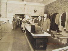 Early 1900s Photo Interior of Clothing Store Men's Suits Probably Boonville IN