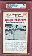 1960 NU CARD BASEBALL HI-LITES PSA 5 PICKOFF ENDS SERIES #12 CARDINALS