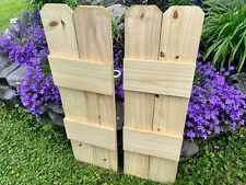 Rustic Board and Batten Shutters (Wood Farmhouse) Exterior Windows (36 inch)