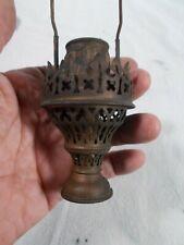 New listing Vintage Gas Brass patina Burner w Chimney-Shade Holder and Mantle Holder