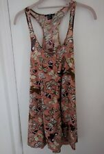 BNWOT H&M Pink Multi Butterfly Floral Racer Back Dress - Size Extra Small (XS)