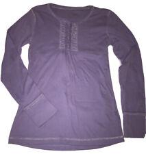 Justice Girls  Purple Tie Back Long Sleeve Top Size M/12 EUC