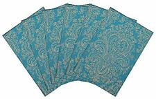 Place Mat Velvet Printed Decorative Abstract Design Set of 6 Pices Turquoise