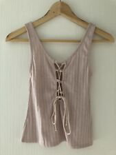 Project Social T Urban Outfitters Lace Up Ribbed Top