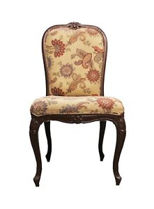 Vintage Chair Wood Furniture Handmade Design Fine Carved Collectible India US432