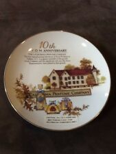 Avon 10th Anniversary Perfume Company Plate Gold Trim Collectable Award