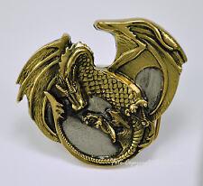 Drachen Buckle f. Wechselgürtel Fantasy Mittelalter Gürtelschnalle * 114 go