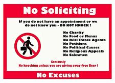 Do not Knock Here, Diecut vinyl adhesive sticker decal  100x70mm