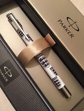 PARKER VECTOR ENGLAND THREE LIONS ROLLERBALL PEN-BLACK INK-UK-GIFT BOX-NOS