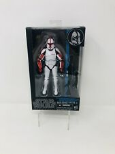 Star Wars Black Series Blue Line Clone Trooper Captain #13 Hasbro 2015 Tri-logo