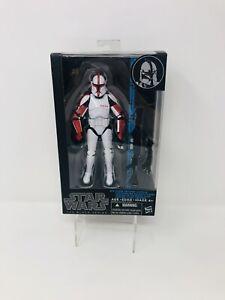 Star Wars Black Series Blue Line Clone Trooper Captain #13 Hasbro 2015 Tri-logo