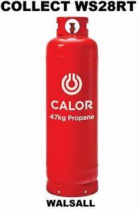 CARAVAN CAMPING NEW FULL LARGE 47 KG 47KG CALOR GAS LPG PROPANE BOTTLE REFILL