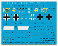 1/72 Decals für Bf 109 G-6 Olt. Willy Kientsch JG 27 2550