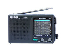 TECSUN R-909 Portable Radio FM/MW/SW 9 bands World Receiv