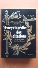 ENCYCLOPEDIE DES CITATIONS - P. DUPRE - LANGUE FRANCAISE - LINGUISTIQUE