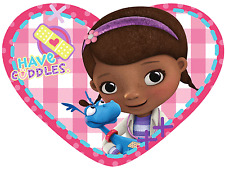 DISNEY DOC MCSTUFFINS PATCH HEART SHAPED CUSHION PILLOW KIDS CHARACTER BEDROOM
