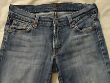 7 FOR ALL MANKIND Distressed Womens Jeans Sz 28 Medium Wash Cotton Lycra Bootcut