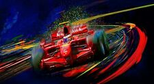 Automobile Car Art 2007 Ferrari F1 Formula one World Champion Kimi Raikkonen