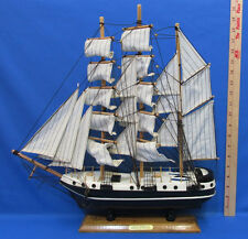 Vintage Wooden Ship Model Alex Humboldt Pirate Sailing Model Nautical Cloth Sail