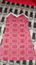 Womens Ladies Shirt Size Small S Excellent shape Red