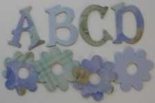 """K & Company ~POPPIES~  Chipboard Alphabet Letters & Die Cuts 1.5"""""""
