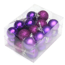 NEW YEAR 24Pcs Baubles Decor Balls Glitter Ornament Hanging Christmas Xmas Tree