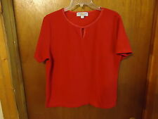 """Womens Carolyn Taylor Essentials Size L/G Red Top """" BEAUTIFUL TOP """""""