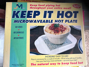 2x JML KEEP IT HOT Granite Stone Microwaveable Hot Plate
