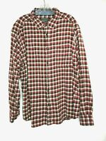 Mens Woolrich Red/Black Plaid Long Sleeve Flannel Shirt Size XL